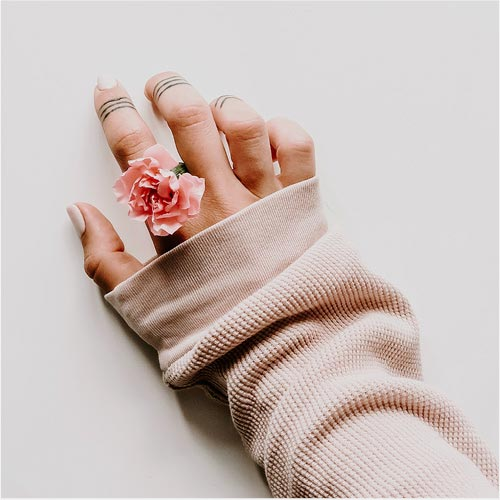 Woman's hand with jewelry