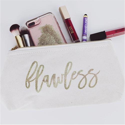 Makeup bag & makeup accessories