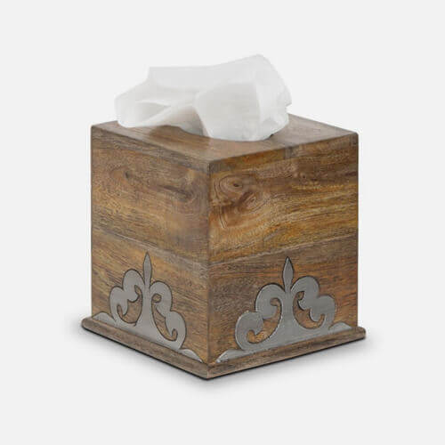Facial tissue holder