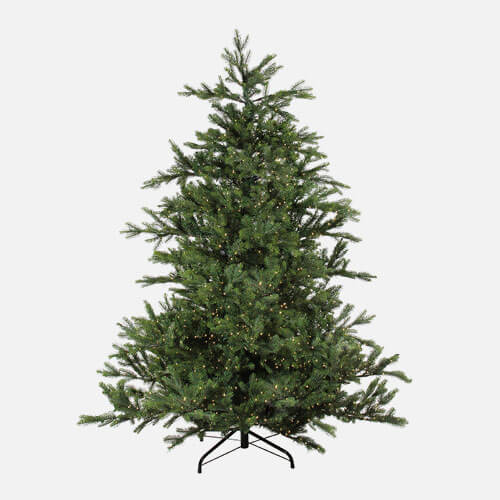 Pre-lit artificial Christmas tree