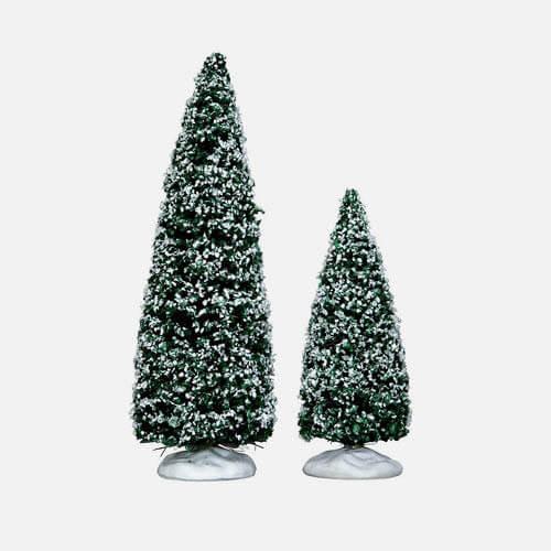 Christmas village trees