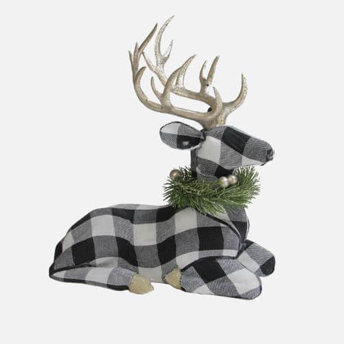 Christmas plaid reindeer figure