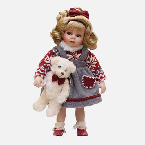 Christmas porcelain doll