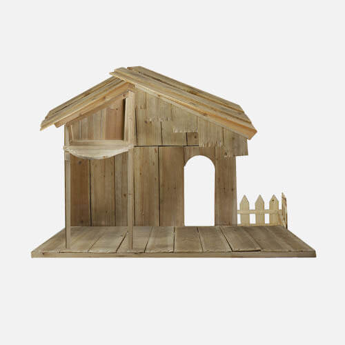 Nativity scene stable