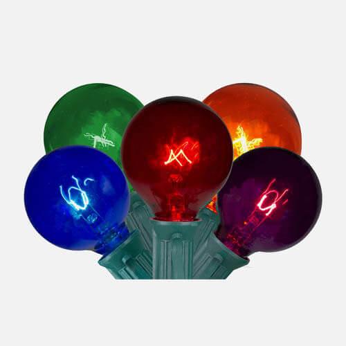 Christmas globe lights