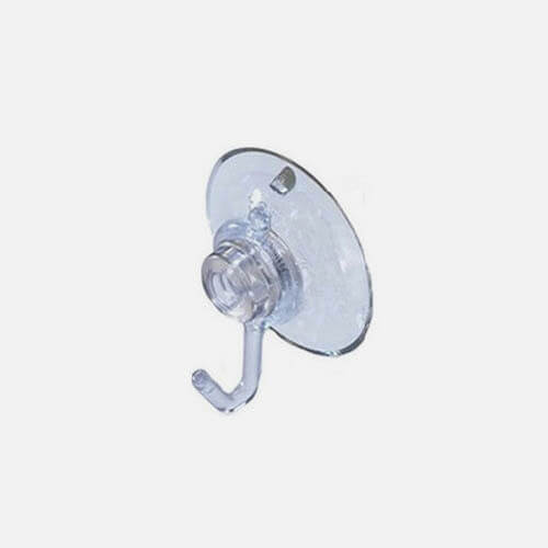 Light suction cup hook