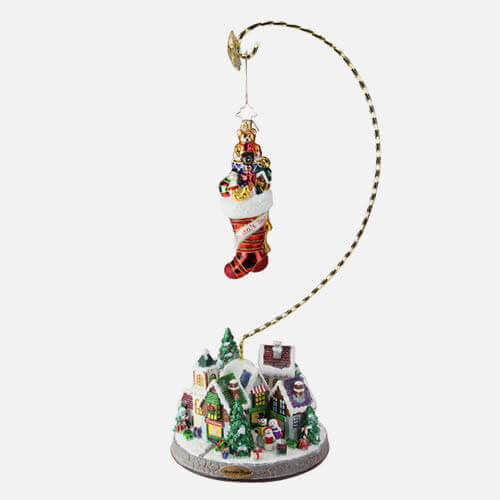 Christmas village ornament display stand