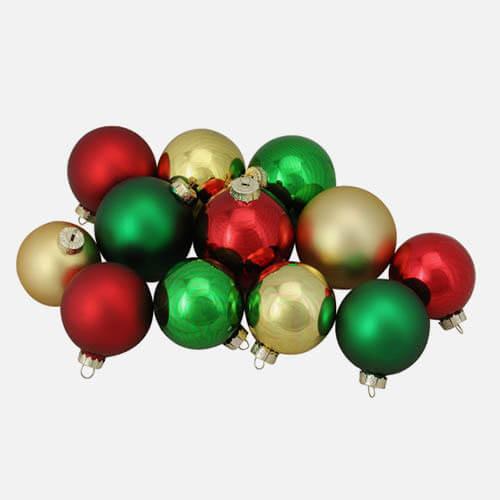 Christmas glass ball ornaments