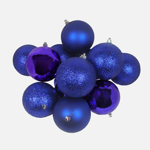 Christmas shatterproof ball ornaments