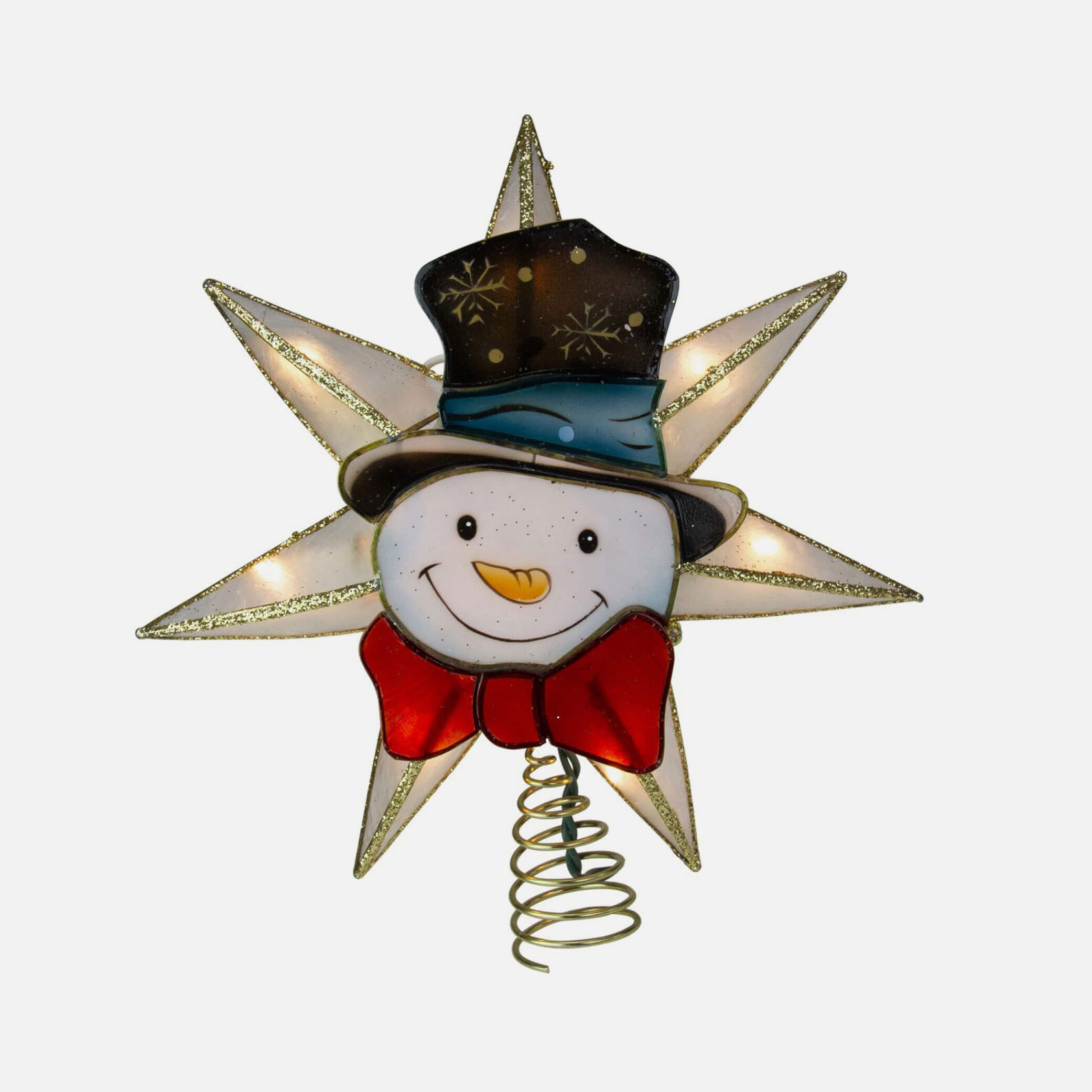 Snowman Christmas tree topper