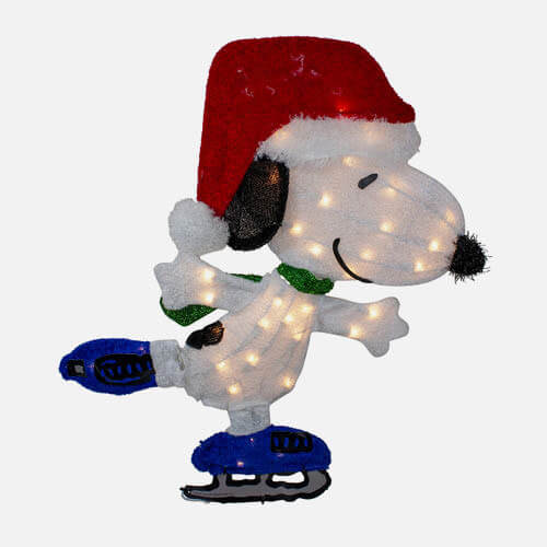 Outdoor Christmas Snoopy figure