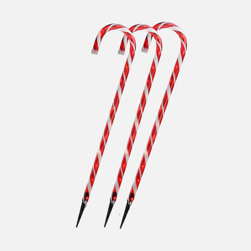 Candy cane lawn stakes