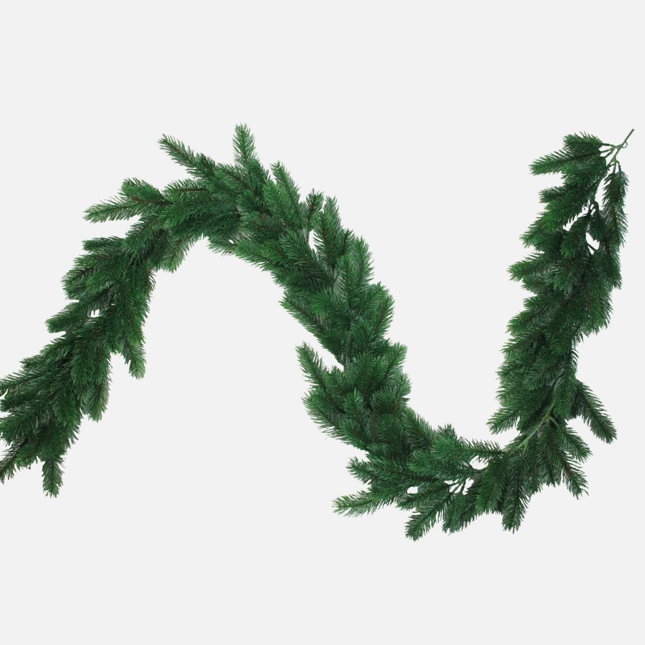 Unlit artificial garland