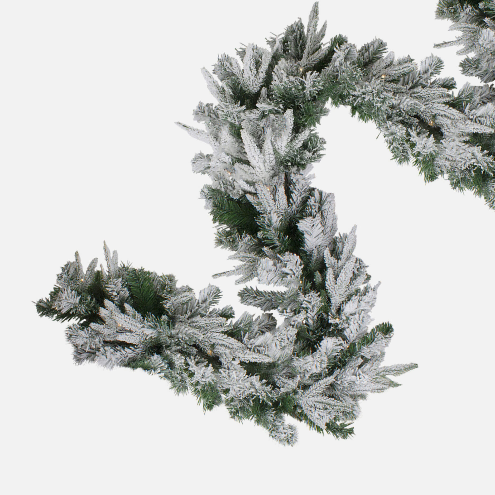 Frosted artificial garland