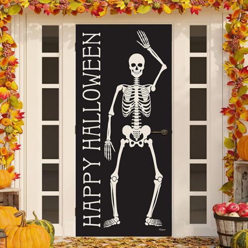 Halloween skeleton door decoration