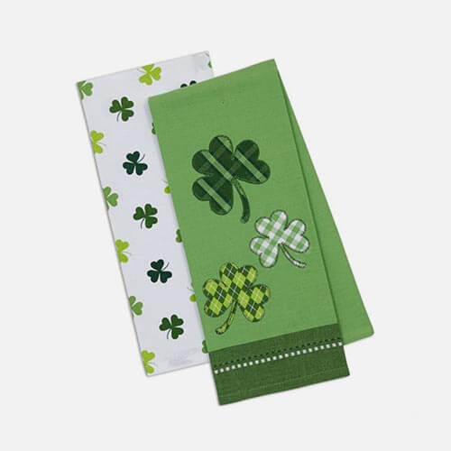 Shamrock towels