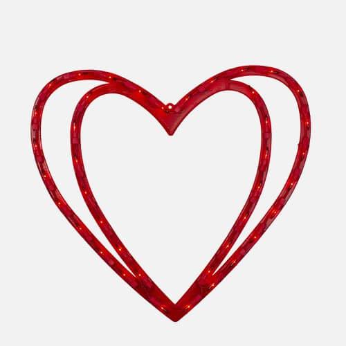 Heart window silhouette