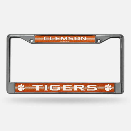 Sports fan license plate frame
