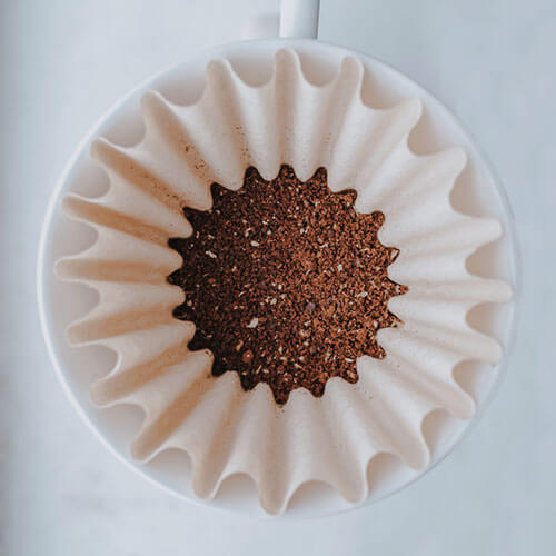 Coffee in filter