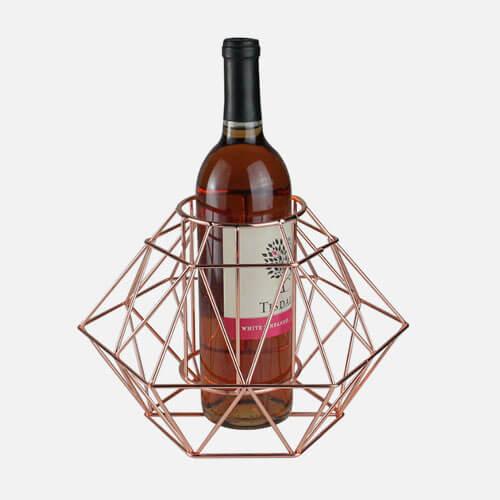 Wine bottle in holder