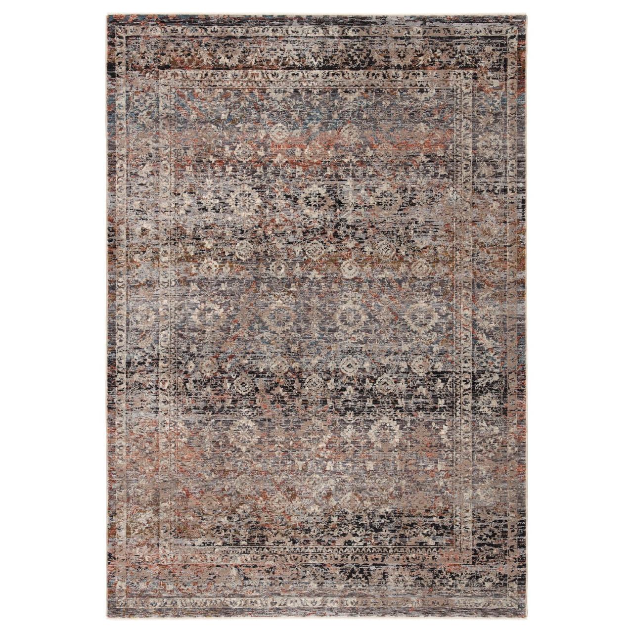 9 25 X 13 25 Gray Black Traditional Rectangular Area Throw Rug Christmas