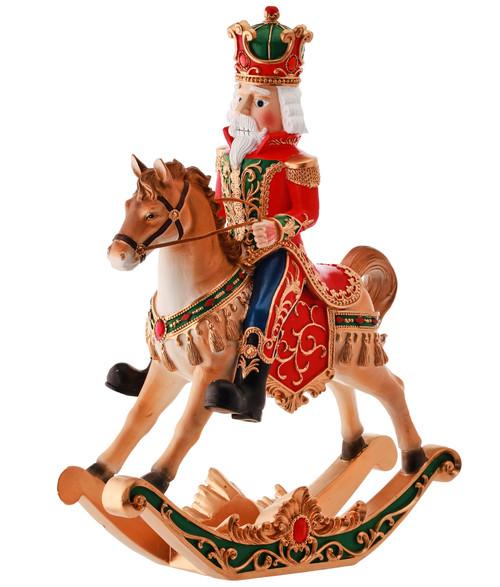 """15"""" Nutcracker In A Rocking Horse Christmas Decor"""