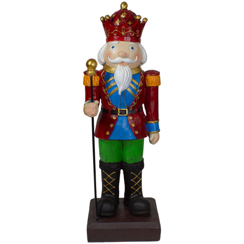 """22"""" Red and Blue Nutcracker Soldier Christmas Decoration"""