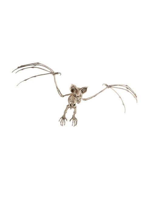 "69"" Ivory Bat Skeleton Prop Halloween Decoration"