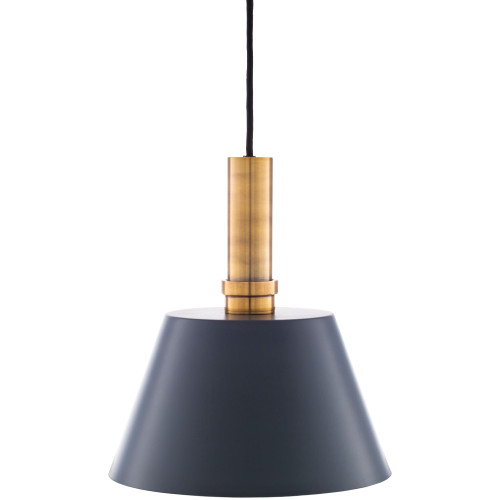 """85.75"""" Hanging Black and Gold Ceiling Light Fixture"""