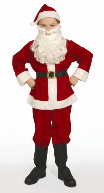 7-Piece Economy Child Christmas Santa's Little Helper Suit - Child Size Medium