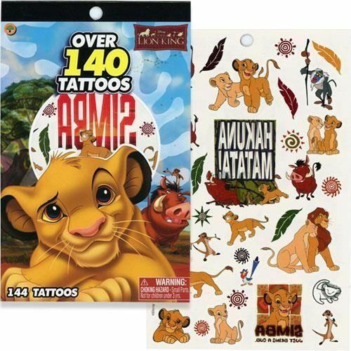 Disney Lion King Tattoo Book - Over 140 Tattoos