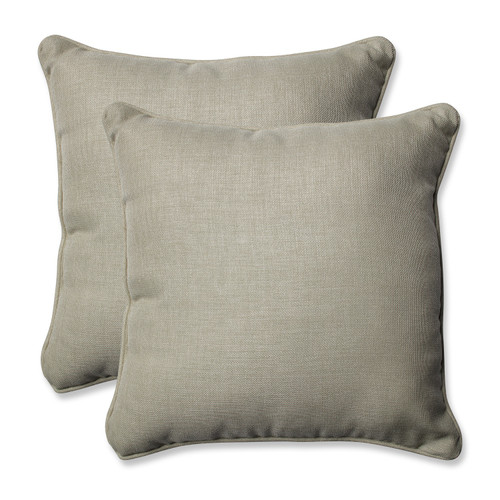 "Set of 2 Sandy Beach Charm Patio Throw Pillow 18.5"""