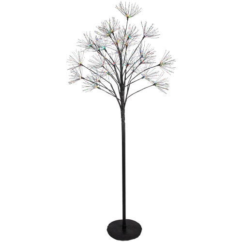 5' Black Christmas Firework Tree Copper Wire LED Lights