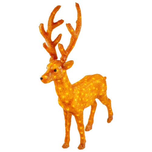 """46"""" Lighted Commercial Grade Acrylic Standing Reindeer Christmas Display Decoration"""