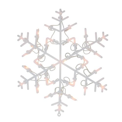 "13.5"" Lighted Snowflake Christmas Window Silhouette Decoration"