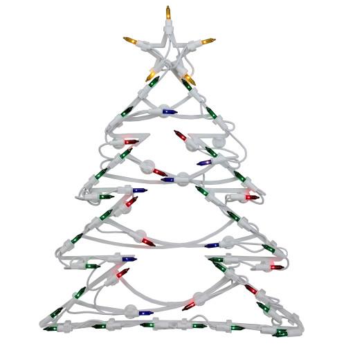 "18"" Lighted Tree Christmas Window Silhouette Decoration"