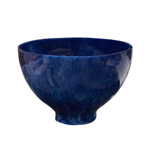 """13.75"""" Blue and White Traditional Round Decorative Bowl"""