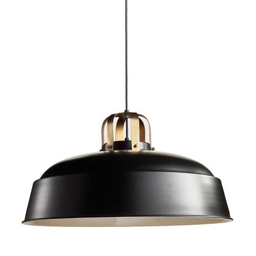 "25"" Black and Bronze Matte Hanging Pendant Ceiling Light Fixture"