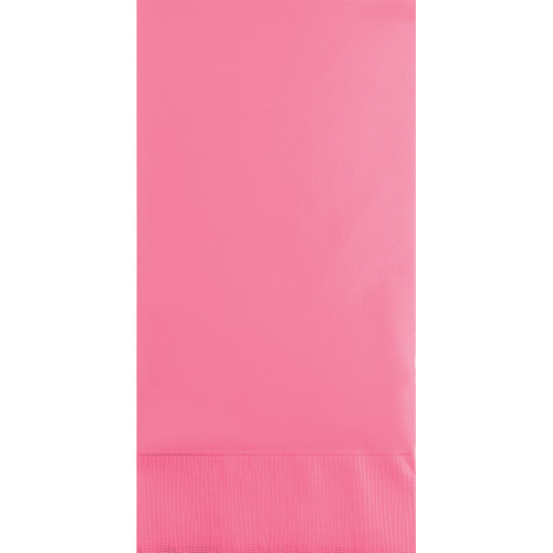"""Club Pack of 192 Candy Pink Solid 3-Ply Disposable Party Paper Napkins 8"""""""