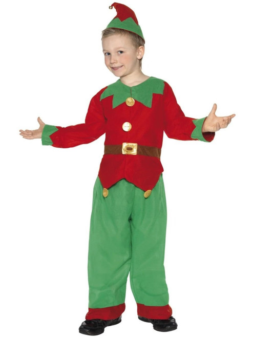 """49"""" Red and Green Elf Unisex Child Christmas Costume - Small"""