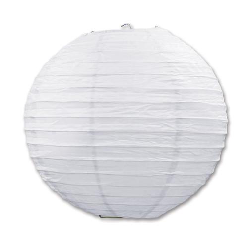 "Club Pack of 18 Round White Hanging Paper Lanterns 9.5"""