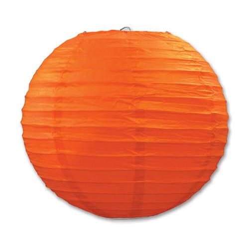 """Club Pack of 18 Round Orange Hanging Paper Lanterns 9.5"""""""
