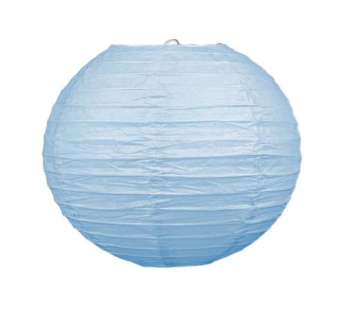 "Club Pack of 18 Round Light Blue Hanging Paper Lanterns 9.5"""