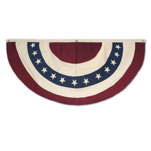 """Pack of 6 White and Red Patriotic Americana Bunting Hanging Decors 48"""""""
