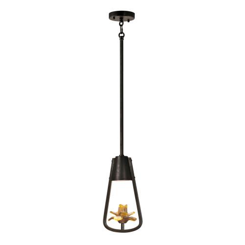 "59"" Black and Bronze Hanging Pendant Ceiling Light Fixture"