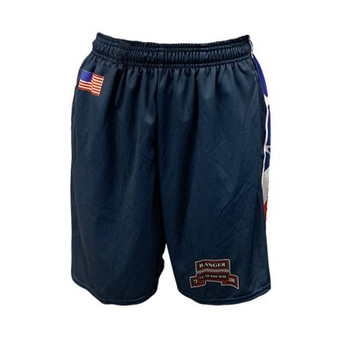 Navy Shorts W/ Flag