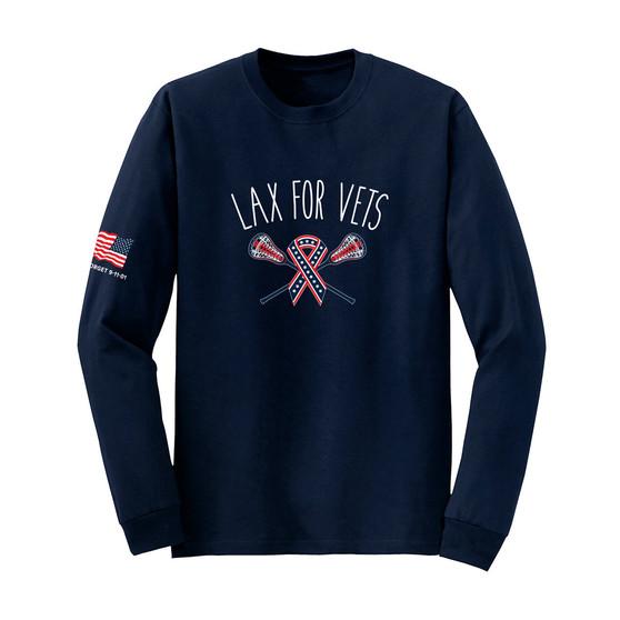 Navy Lax For Vets Longsleeve