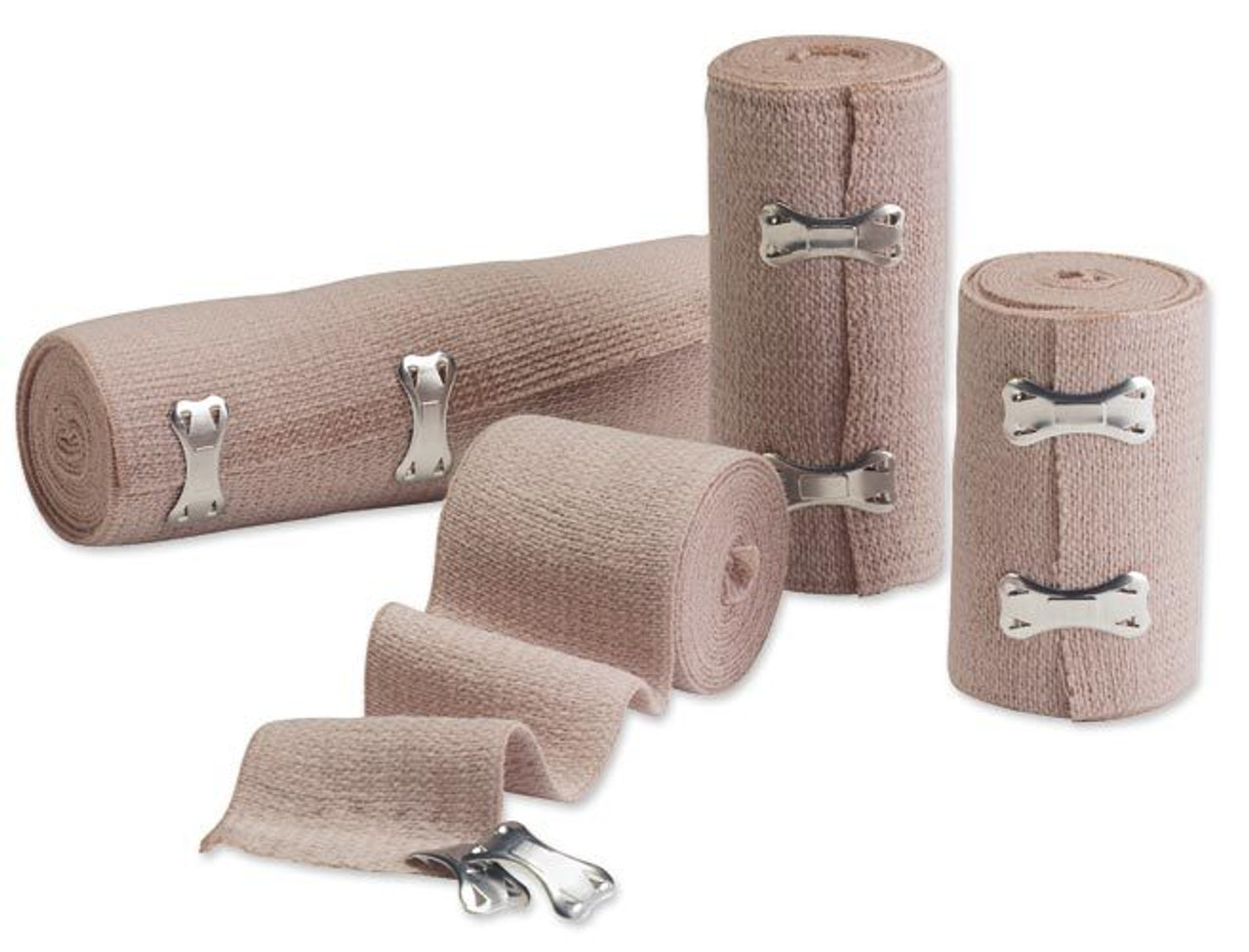 Everguard Elastic Bandages With Clips Brown Live Action Safety