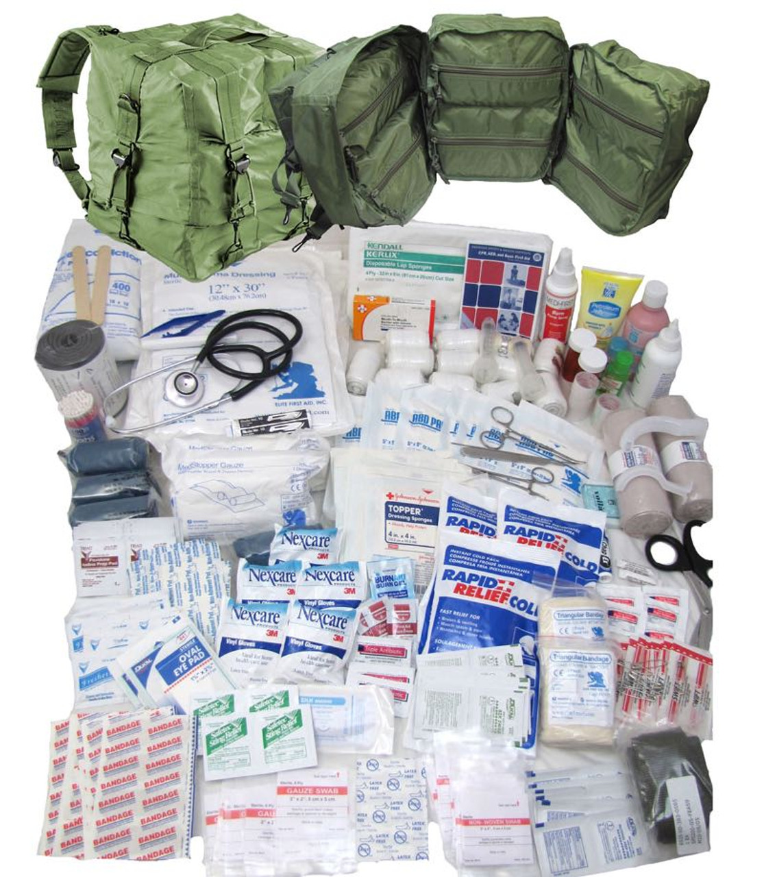 Military-First-Aid Kit Army-Surgical-Kit-Sutures-Scalpel-Hemostats