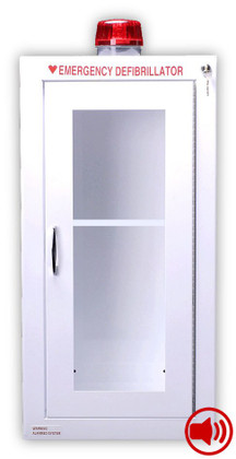 Tall Size AED Wall Cabinet with Audible Alarm and Strobe Light